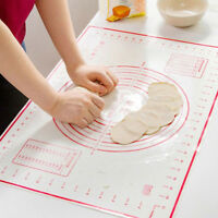 S-XL Silicone Non-stick Roll Pad Cake Dough Mat Pastry Clay Fondant Baking Mat