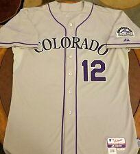 Colorado Rockies GAME USED JERSEY Juan Nicasio Baseball Pittsburgh Pirates 48