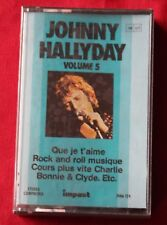 Johnny Hallyday, impact volume 5, K7 audio / Audio tape neuf