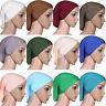 Women Muslim Islamic Solid Cotton Hijab Cap Head Under Scarf Shawl Turban NEW