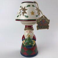 Jim Shore Heartwood Creek Santa Tea Light Lamp Candle Holder 2004 Christmas New