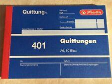 2 x Herlitz Quittungsblock 401 Quittung DIN A6 50 Blatt *TOP*