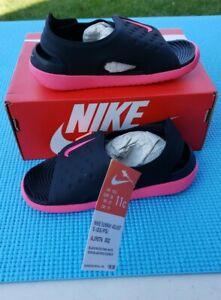 Nike Sunray Adjust 5 Big Girls Pink Sandals Size 11C - AJ9076-002 - NEW