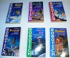 Robotech #1 to #6 Jack McKinney Sci-Fi Anime Tv Show Tie-In Paperback Book Lot