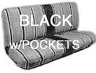 Truck Bench Seat Cover Saddle Blanket BLACK 1pc All Full Size Ford, Chevy, Dodge
