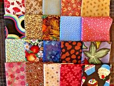 Auction Quilting Squares Or Other Craft -20 Cotton Fabric Pieces 9�x21� Lot