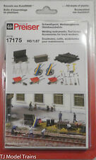 Preiser HO #17175 Welding Insturments, Tool Boxes, Accessories for Track Workers