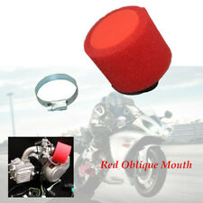 Red Oblique Mouth 35mm Sponge Foam Air Filter For 50 70 90 110CC Motorcycle ATV
