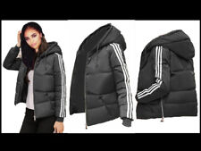 Womens Hoody Winter Coat Warm Jacket Down Padded Outwear Quilted Parka 3 Stripe Red-ladies Puffer Top Size Adidas Tracksuit XL UK 6