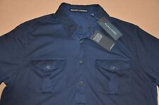 NWT M's Ralph Lauren Black Label, Denim-Washed Cotton Jersey Polo. Size M. $185