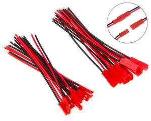 ✅ JST BEC Stecker / Buchse 22AWG Kabel 100-350mm Connector 2 Pin LED Lipo Akku ✅