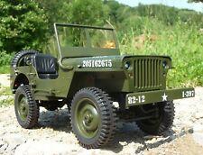 RC militaire Jeep Willys avec lumière & batterie longueur 34 cm à distance 2,4ghz 403105