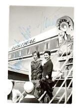 MARGOT FONTEYN AND RUDOLF NUREYEV SIGNED PHOTO BOARDING PLANE,BALLET STARS