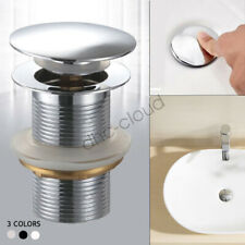 Pop Up Basin Waste Plug G1/4 Basin Vanity Drain Sink No Overflow Chrome 41mm