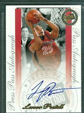 Lavor Postell Basketball Auto 2000-01 PressPass '00 Signature Autograph Signed