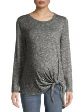 Time and Tru Maternity Long Sleeve Side Tie Tee