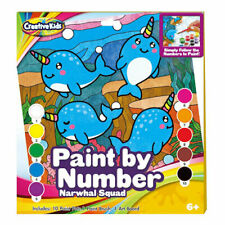 Paint By Numbers Set Narwhal Squad CHILDRENS PAINTING SET