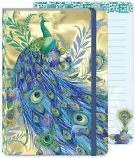 Punch Studio E1 Softcover Notebook Journal 4.5x6.5'' Peacock Gold 46010