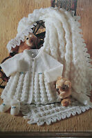 Baby's Shawl, Matinee Coat and Shoes Knitting Pattern