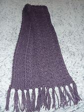 écharpe en laine longue mauve chaude pour l'hiver ETAM