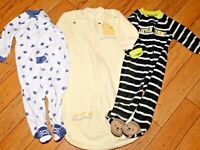 All Carter's Infant Boys Pajama Lot + Bunting Sleep Sak 9 Months
