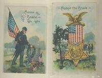 Set Two Honor the Brave Grand Army of the Republic Civil War Reunion Postcards