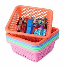 Small Plastic Storage Baskets Organizer,Set of 8 in 4 Assorted Colors may vary