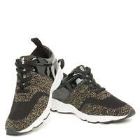 Exclusive Karl Lagerfeld x Falabella Kim Sneakers Sz 4 - 8 Primeknit Black Ocher