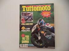 TUTTOMOTO 8/1992 SUZUKI GSX 750 R/HONDA NSR 125 RAIDEN/STORZ 883/BMW K 1100 LT