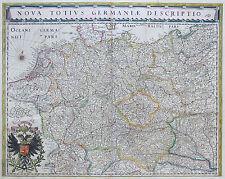 Blaeu Original Kupferstich Landkarte Deutschland Österreich Böhmen Polen 1640