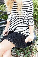 Kate Spade Broome Street XL Dress dot Eyelet Stripe Dress NWT