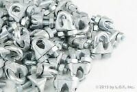 """(100) Wire Rope Clip Clamp Galvanized Zinc Plated Chain M3 3mm 1/4"""" New"""