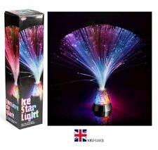 LUMO FIBRE OPTIC ICE STAR LIGHT Lamp Fountain LED Kids Relaxing Night T10114 UK