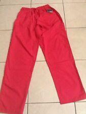 365 Work & Wear Hot Pink Scrub Pants Side Pocket Woman Sz XS NWT