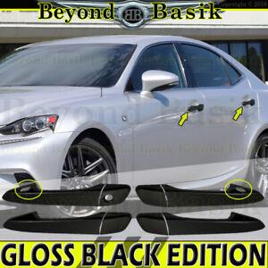 2014-2021 LEXUS IS 2010-2015 RX CT GLOSS BLACK 4 Door Handle COVERS W/2 Smart KH