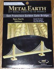 San Francisco Golden Gate Bridge Metal Earth Laser 3D Model Fascinations RARE