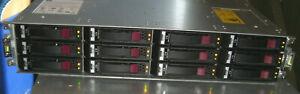 HP P2000 G3 - 12 Bay 2 x SAS Controllers AW595B 2 x PSU Storage Array MSA 10GbE