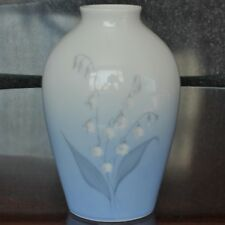 "Vintage Bing & Grondahl Lily of the VALLEY design vase, 7"", 157/5239"