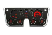 Chevy Truck DIGITAL DASH PANEL FOR 1967-1972 Gauges GMC Intellitronix RED LEDs
