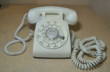 Bell White Rotary Phone by Western Electric 500DM