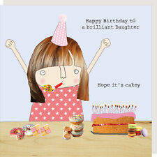 Rosie Made A Thing Daughter Hope It's Cakey Happy Birthday Card Greeting Cards