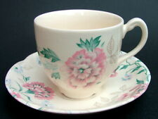 1990's Johnson Brothers Lynton Pattern 200ml Tea Cups & Saucers - Look in in VGC