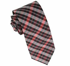 New Milani Men's Polyester Neck Tie Necktie Only plaid Red