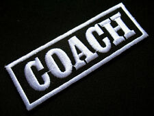 COACH SPORTS JACKET NAME TAG Black Embroidered Iron on Patch Free Postage