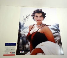 SOPHIA LOREN SEXY SIGNED AUTOGRAPH 11X14 PHOTO PSA/DNA COA #M83432