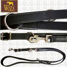 WOZA Premium Hundeleine Vollleder Lederleine Rindleder Handgenäht Leash F1086