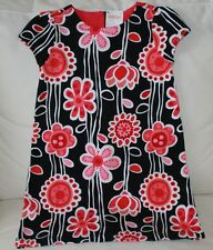 NWT Gymboree Purrfectly Fabulous Girls Size 5 Pink Black Whit Floral Ponte Dress