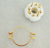 8-pin Octal Ceramic Tube Socket Silver Military USSR EL34 5881 6L6 6SN7