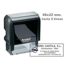 Sello Caucho Automático Trodat 4913 55x22 mm, ideal Empresas Autonomos