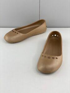 Crocs Women's Casual Comfort Flat Shoes Size 9 Brown